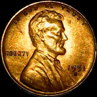 1951 d obv 2