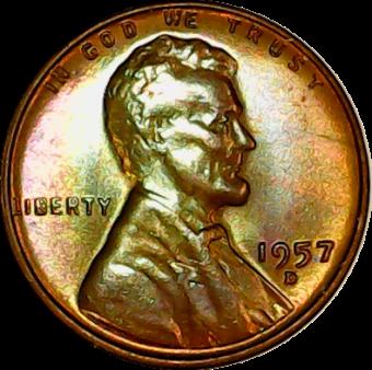 1957 D obv