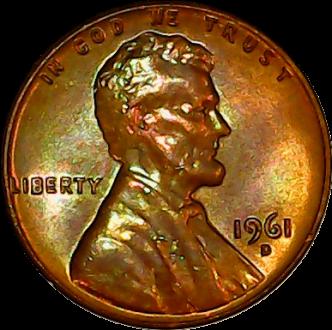1961 D obv